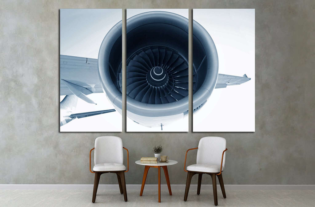 Aircraft Turbofan Jet Engine №1616 Ready to Hang Canvas Print