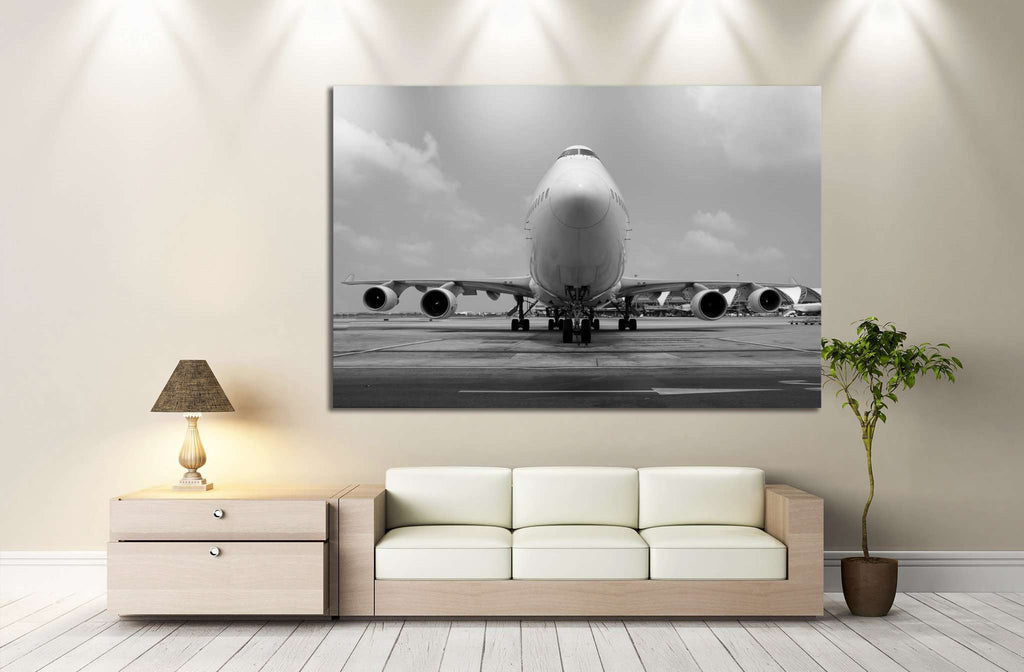 Airplane №143 - canvas print wall art by Zellart