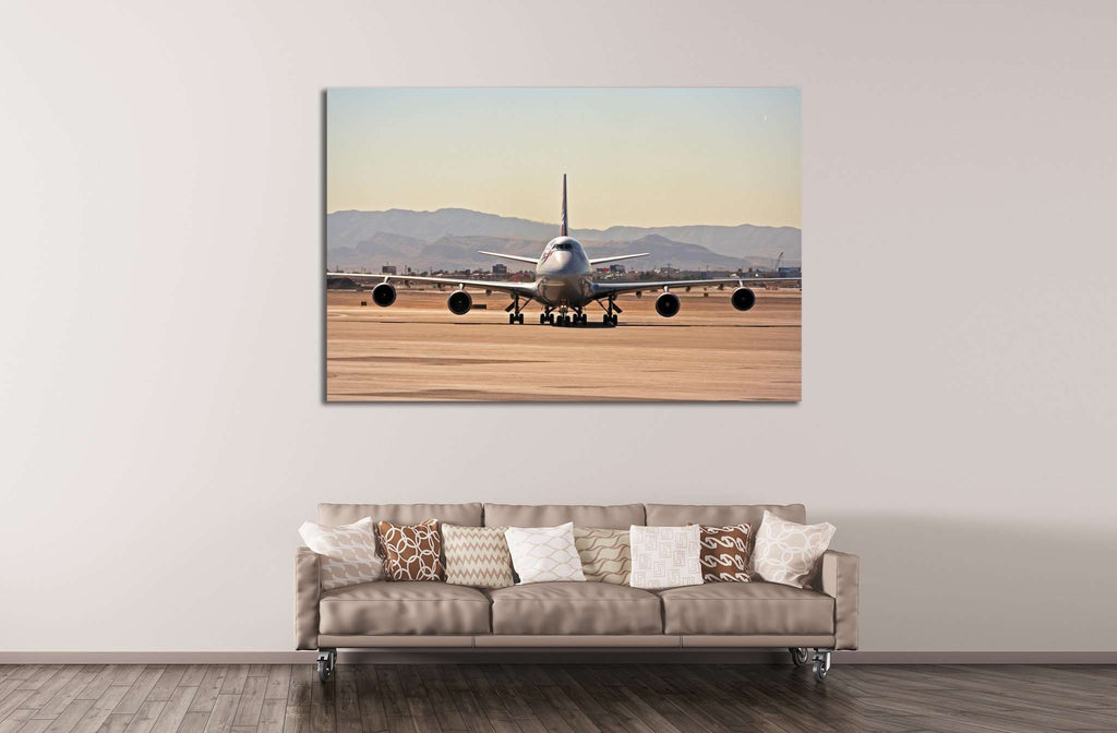 Airplane №145 Framed Canvas Print
