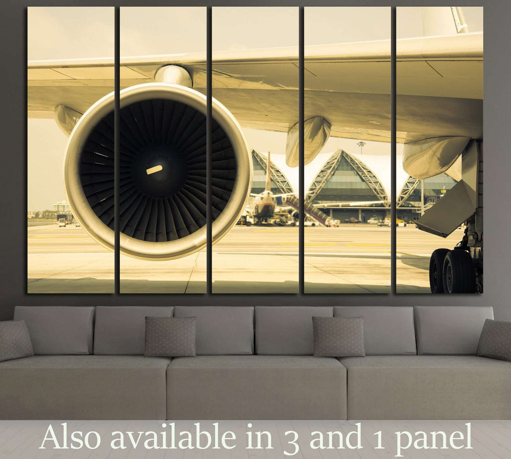 Airplane Turbine №171 Ready to Hang Canvas Print
