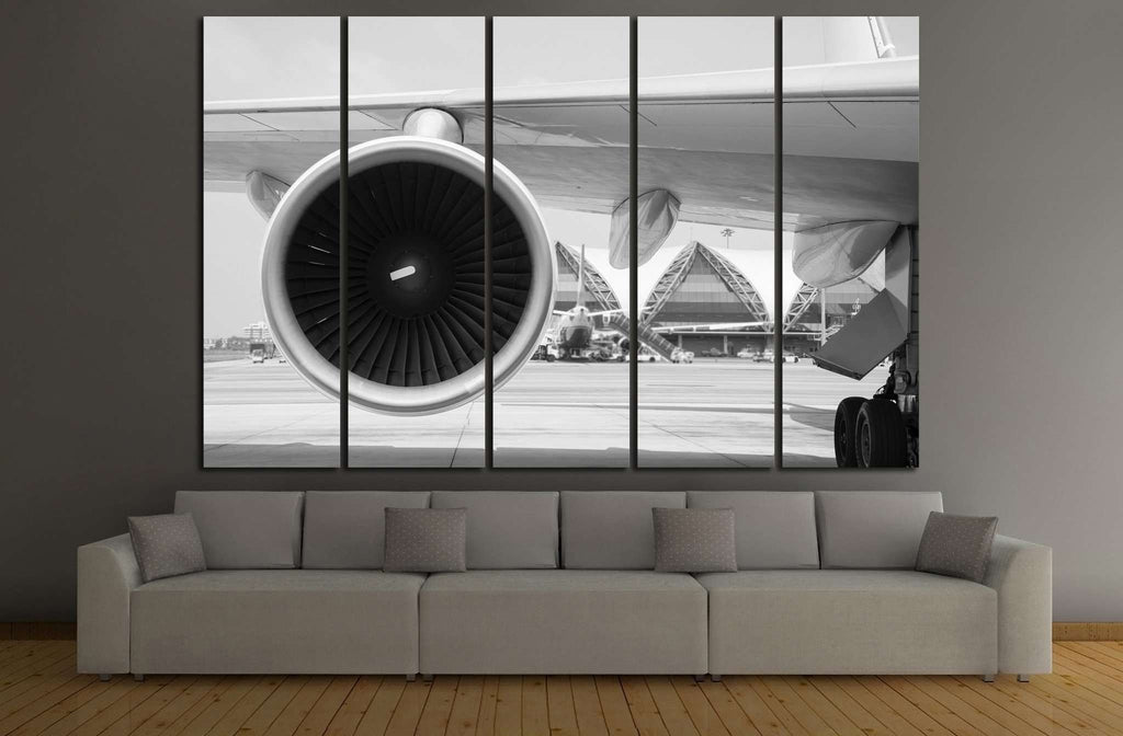 Airplane Turbine №171.1 Ready to Hang Canvas Print