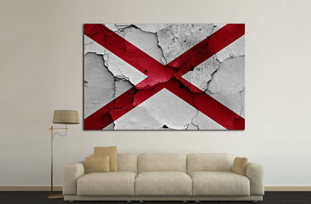 Alabama №653 - canvas print wall art by Zellart