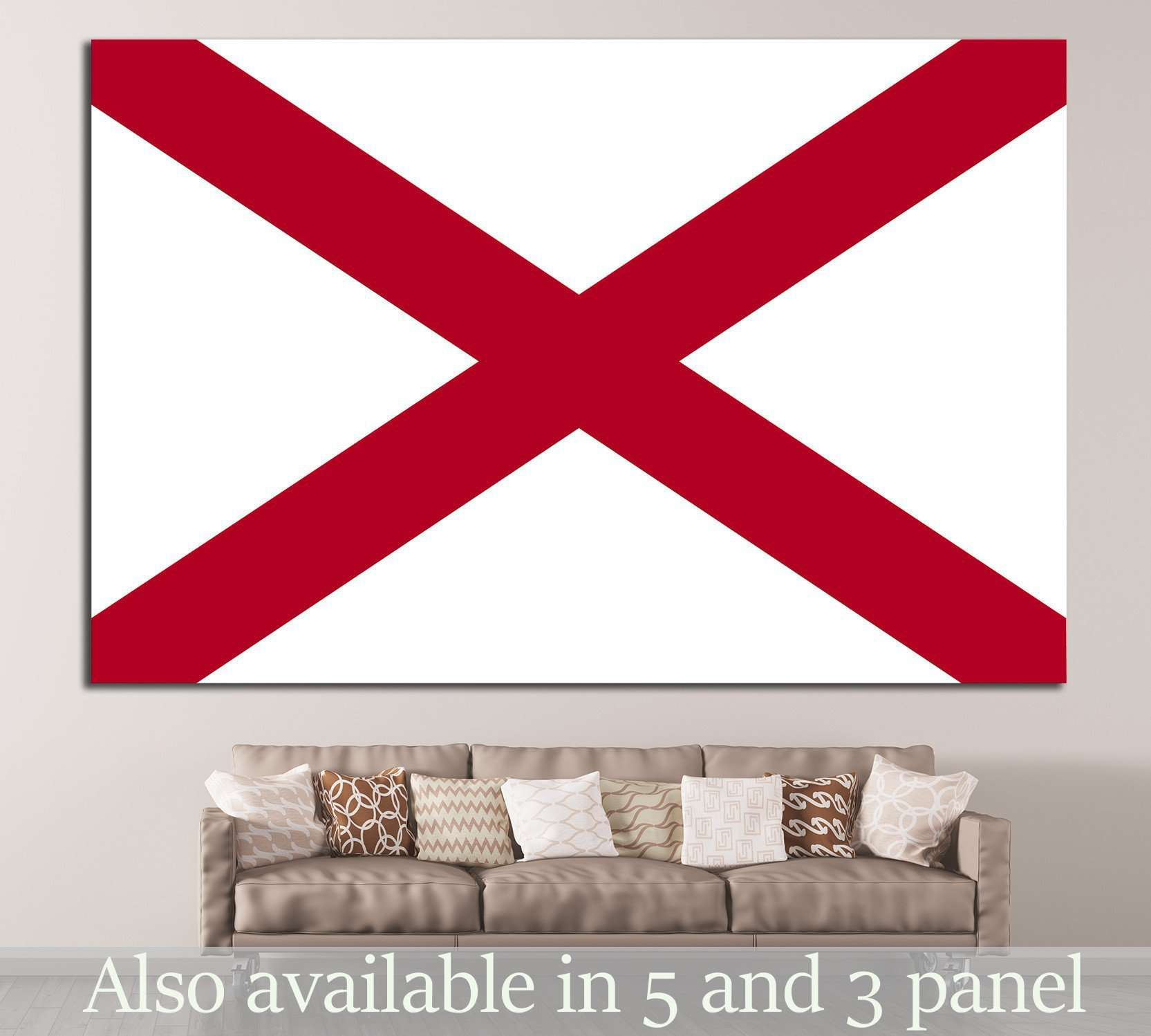 Alabama №673 - canvas print wall art by Zellart