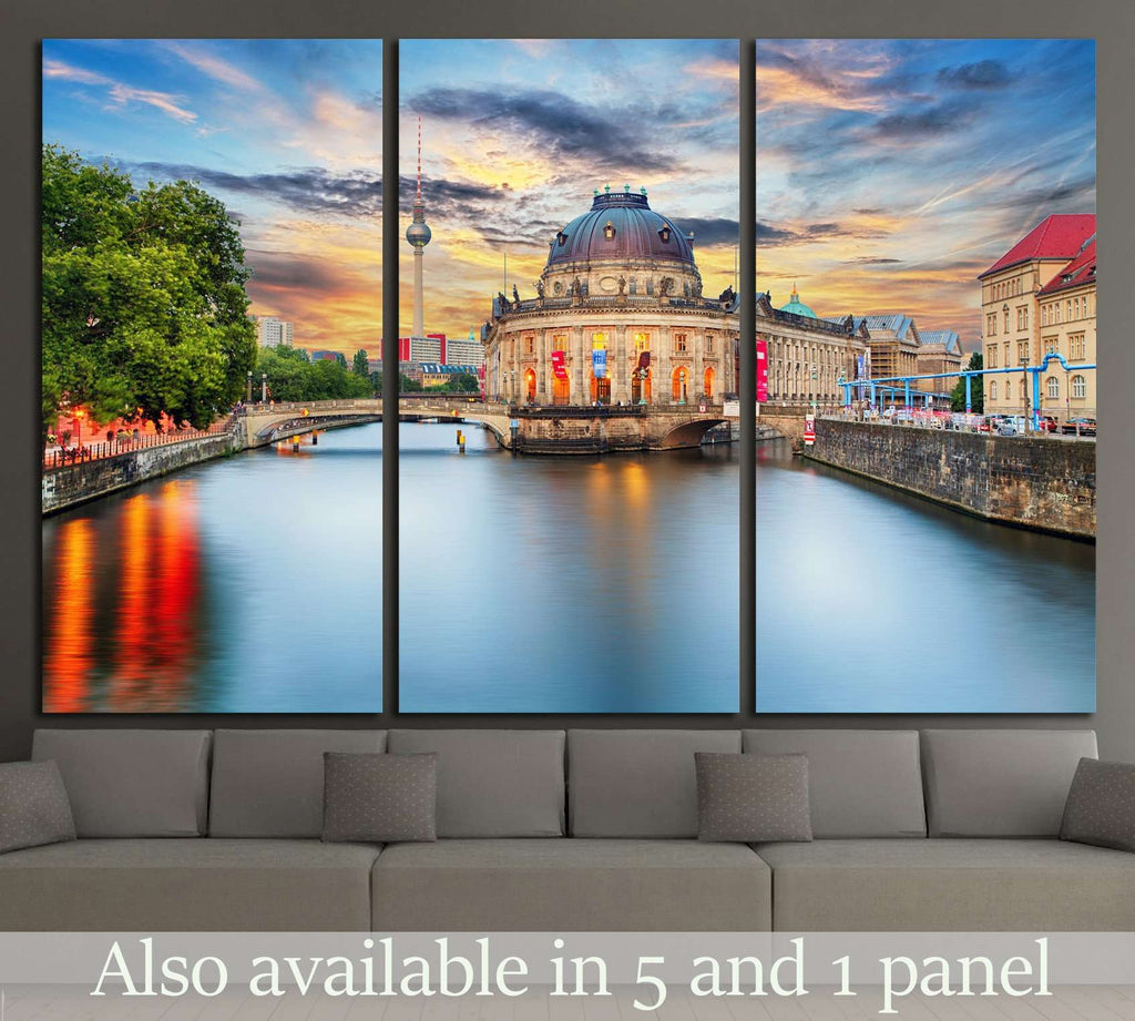 Alexanderplatz TV tower, Berlin, Germany №1189 Ready to Hang Canvas Print