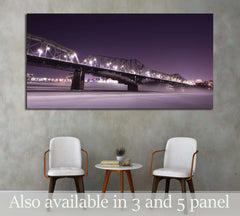 Alexandra bridge connecting Quebec and Ontario, Gatineau and Ottawa №2021 Ready to Hang Canvas Print