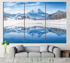 Alps with snowy mountain №23 Ready to Hang Canvas Print