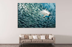 Amazing Dolphin №508 - canvas print wall art by Zellart