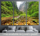 Amazing view of mountain river with crystal clear water,Zhangjiajie National Forest Park, Hunan Province, China №1991 Ready to Hang Canvas Print