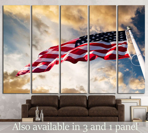 american flag in the sky №1293 Canvas Print