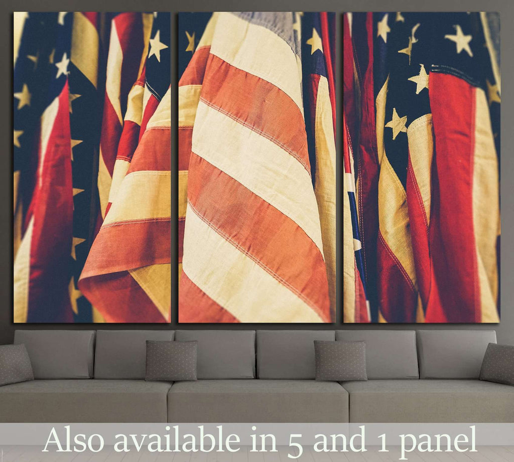 American Flag №1294 Canvas Print