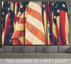 American Flag №1294 Ready to Hang Canvas Print