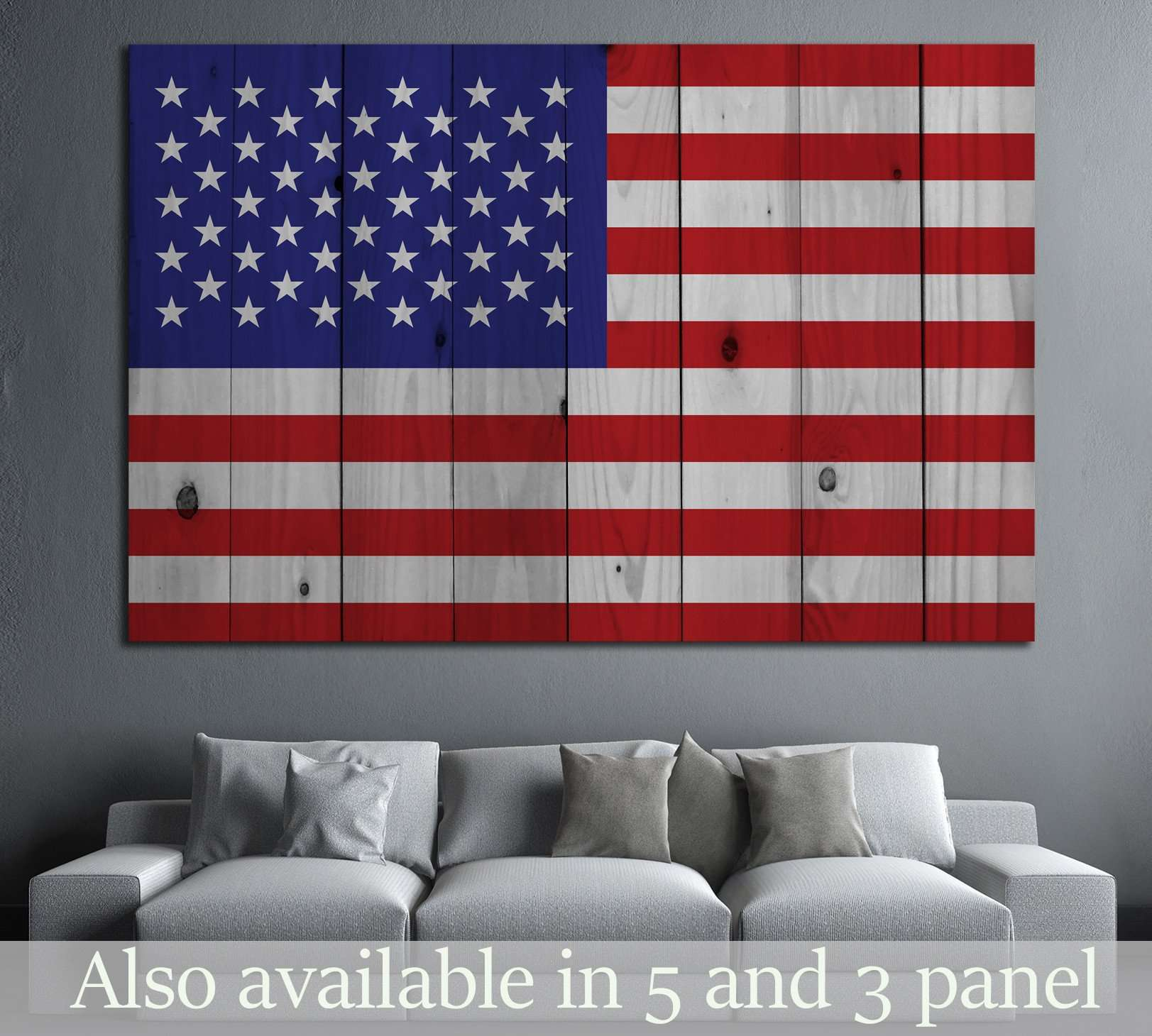 American flag №670 - canvas print wall art by Zellart