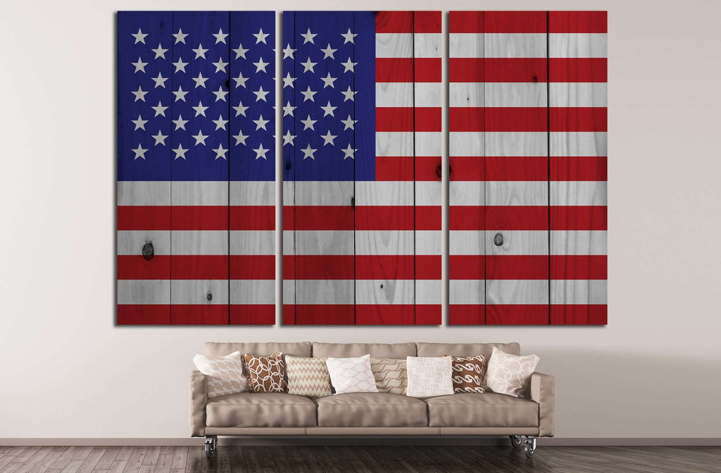 American flag №670 Ready to Hang Canvas Print