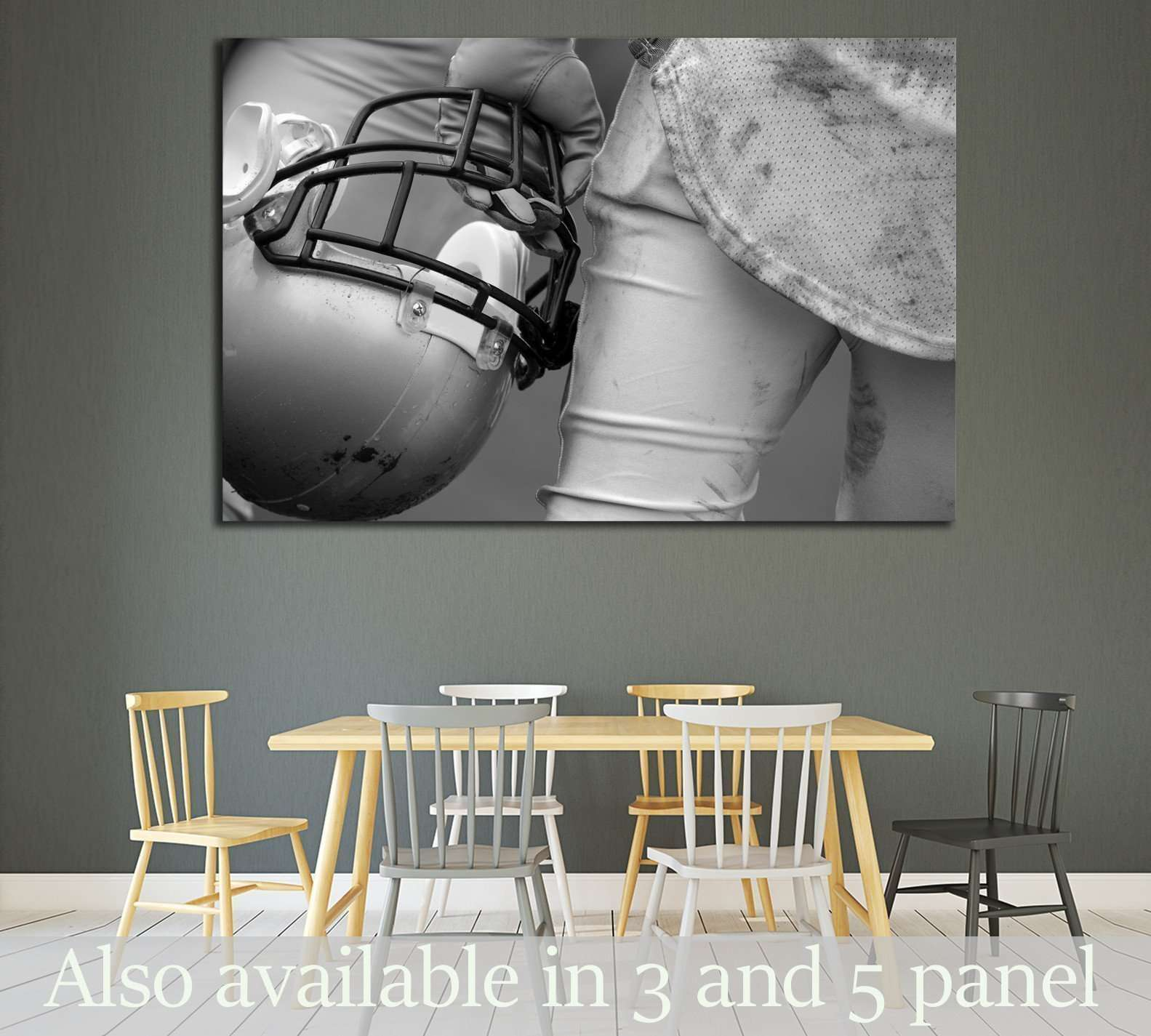 American Football Player №2111 Ready to Hang Canvas Print