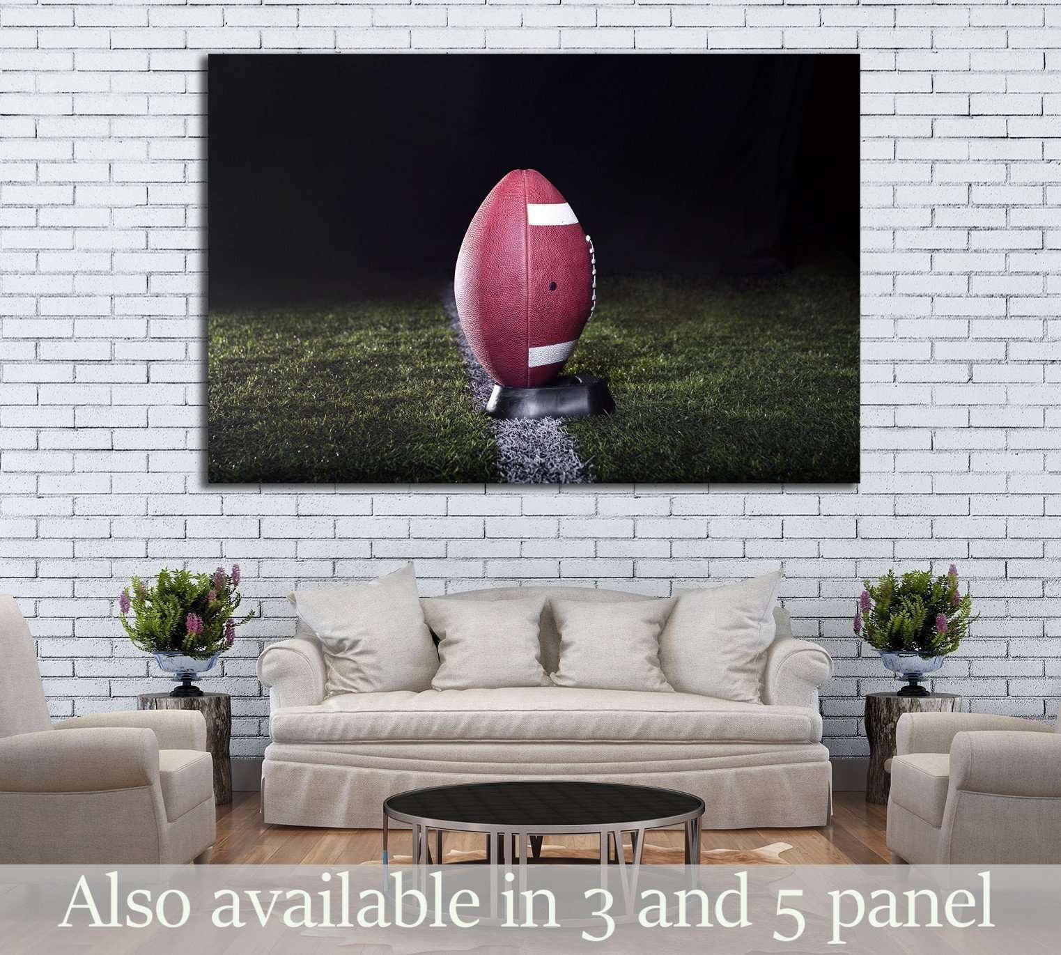 American Football Ready for kickoff №2126 Ready to Hang Canvas Print