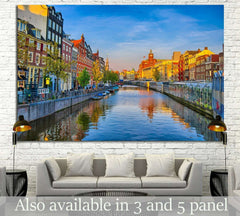 AMSTERDAM, HOLLAND №1187 - canvas print wall art by Zellart