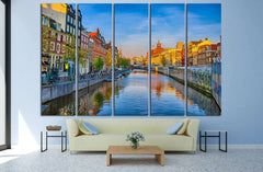 AMSTERDAM, HOLLAND №1187 Ready to Hang Canvas Print