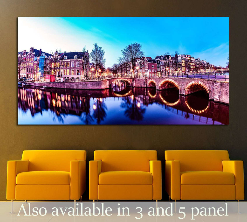 Amsterdam Netherlands №2385 Ready to Hang Canvas Print