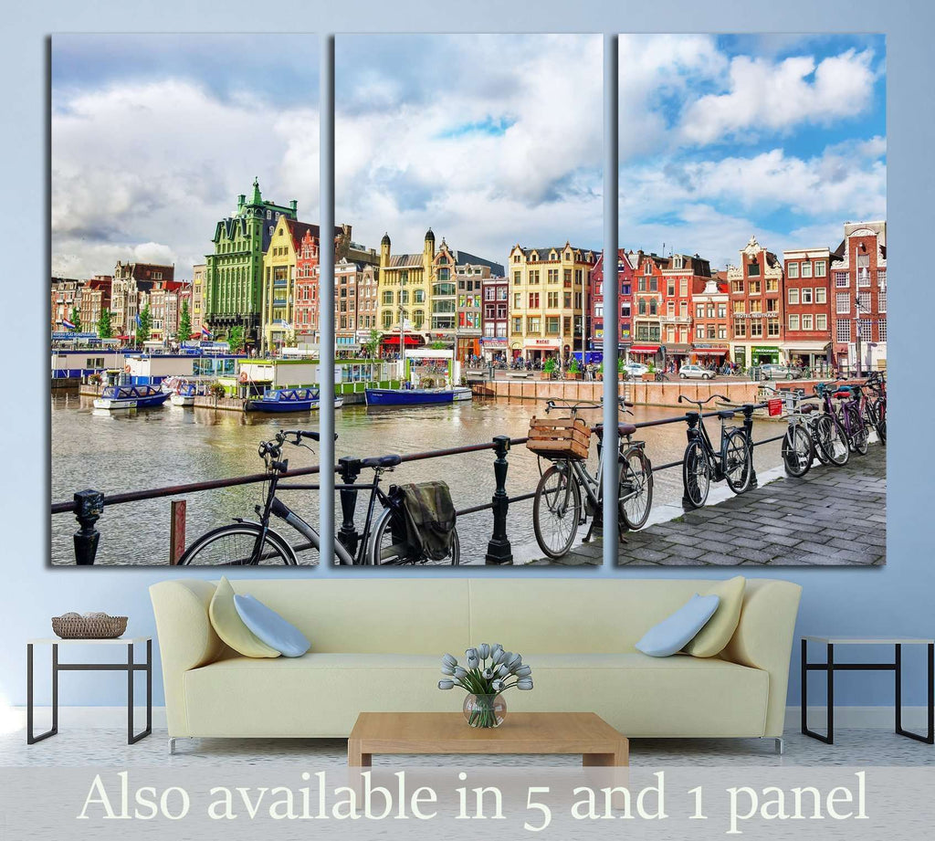 AMSTERDAM, NETHERLANDS №2188 Ready to Hang Canvas Print