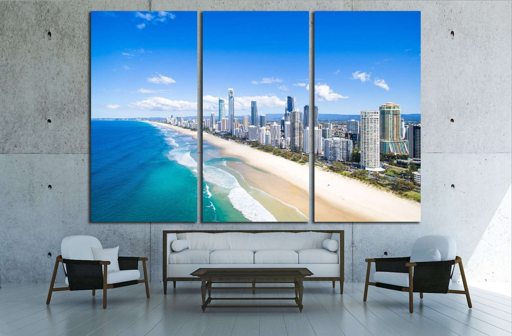 An aerial view of Surfers Paradise on the Gold Coast, Australia №2416 Ready to Hang Canvas Print