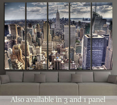 An aerial view over New York city №2593 Ready to Hang Canvas Print