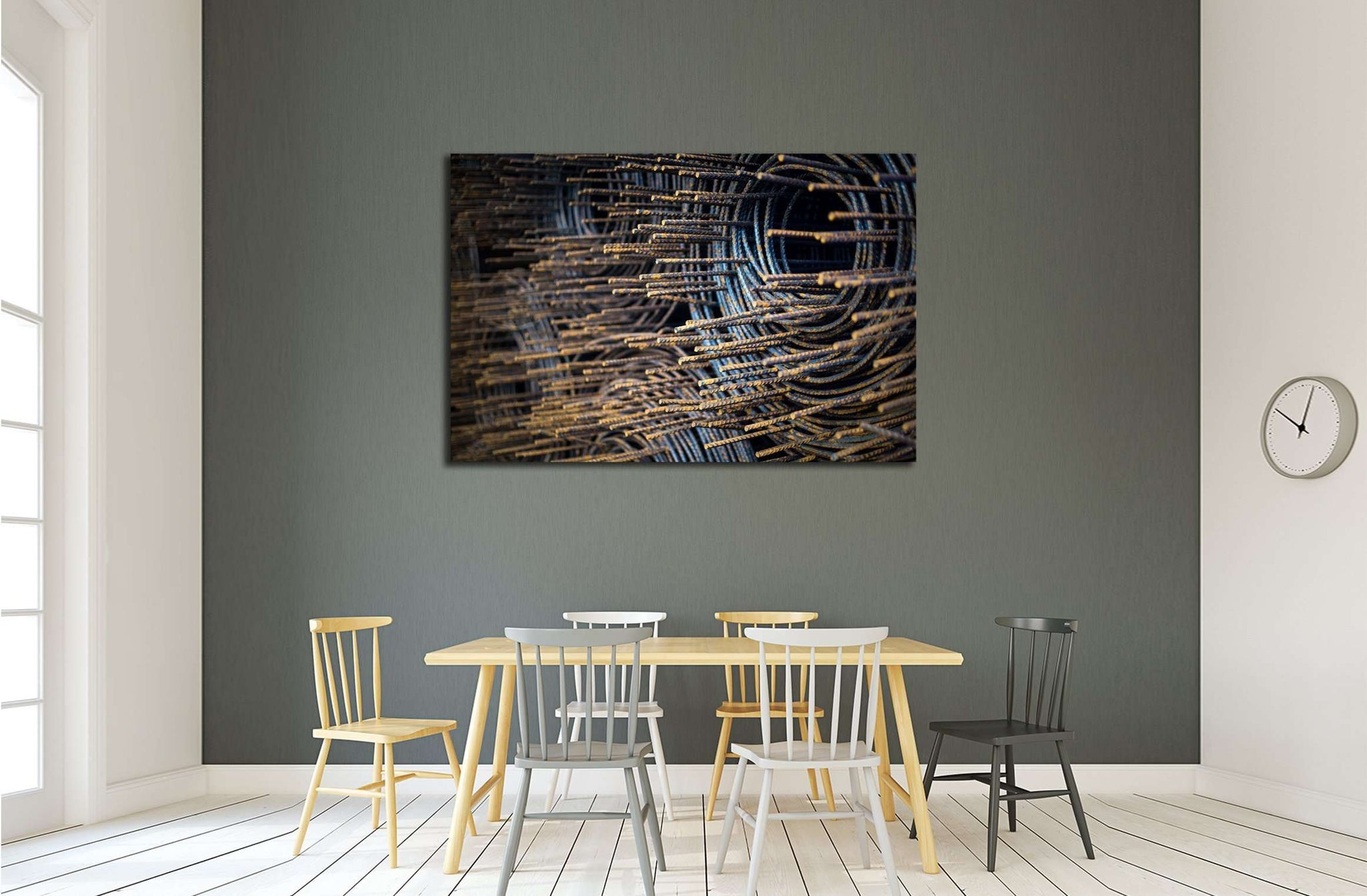 An Steel Bar rusty with Soft light №3241 Ready to Hang Canvas Print