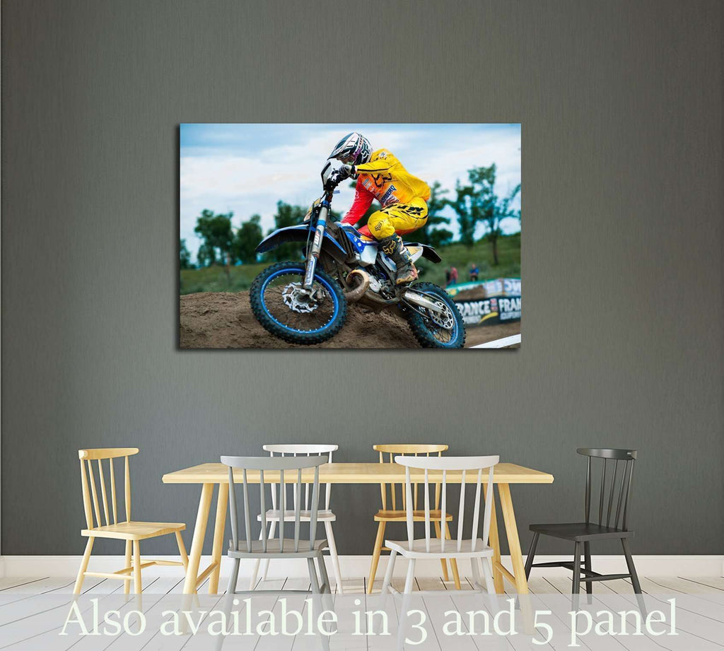 An unidentified rider participates in the World Endurocross Championship №2478 Ready to Hang Canvas Print