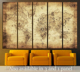 ancient map of the world №2807 Ready to Hang Canvas Print