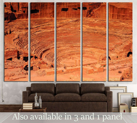 Ancient theater in Petra, Jordan №3144 Ready to Hang Canvas Print