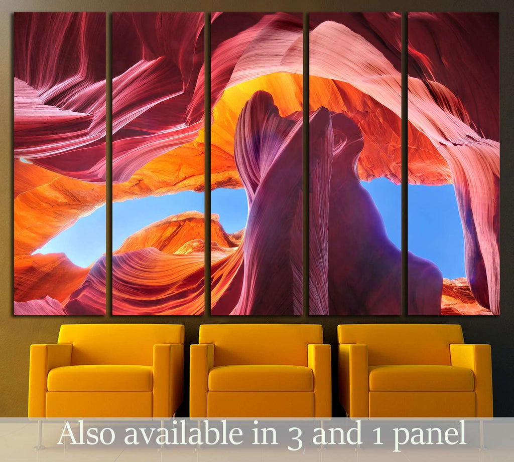 Antelope Canyon in the Navajo Reservation near Page, Arizona USA №2704 Ready to Hang Canvas Print