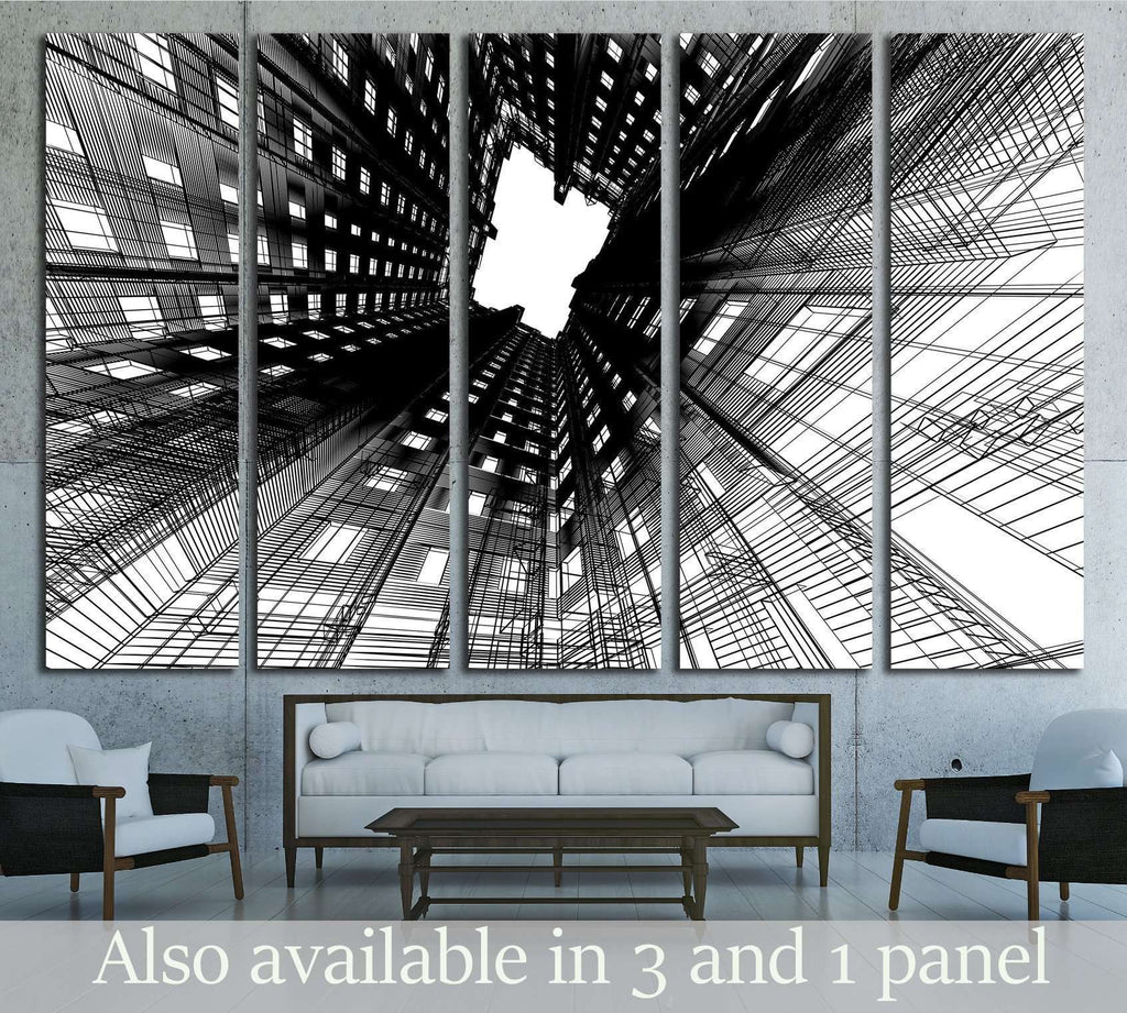 Architectural abstraction №1586 Ready to Hang Canvas Print
