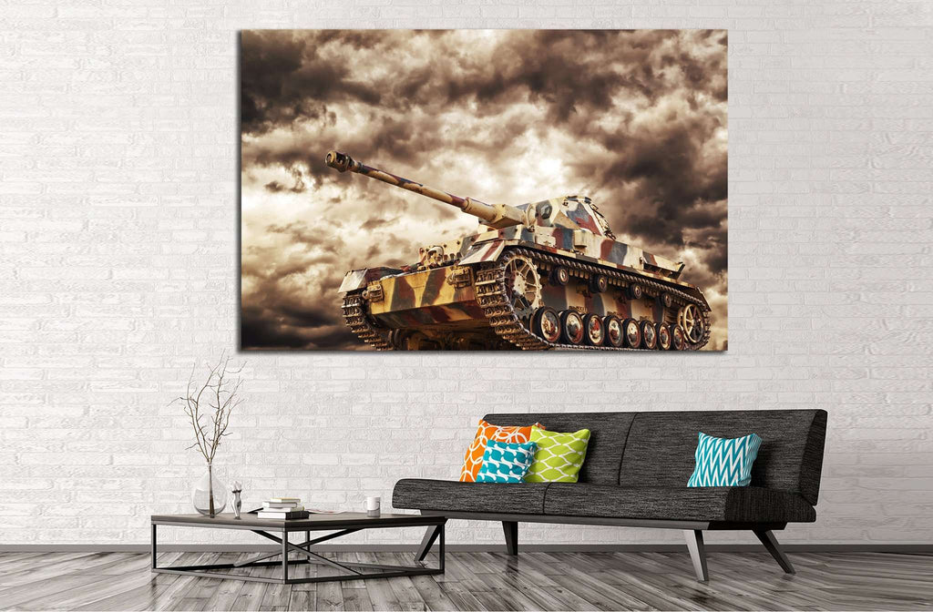Armored Tank №224 - canvas print wall art by Zellart
