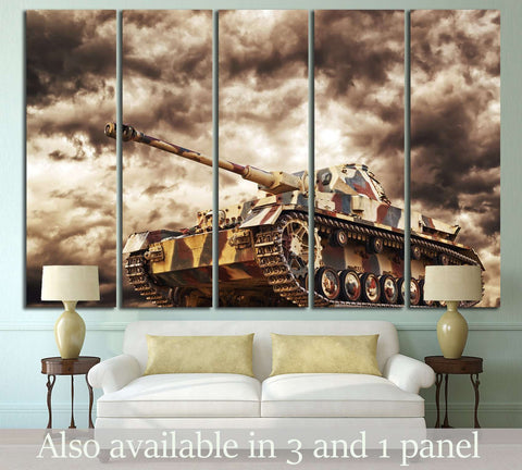 Armored Tank №224 Ready to Hang Canvas Print
