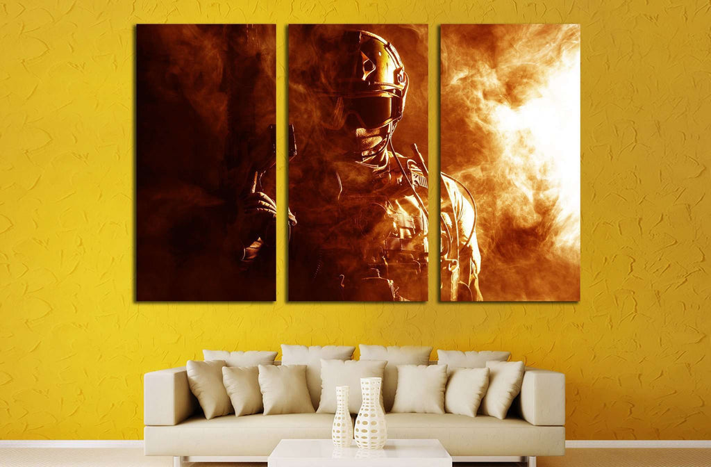 Contemporary Army Wall Art Illustration - Art & Wall Decor ...