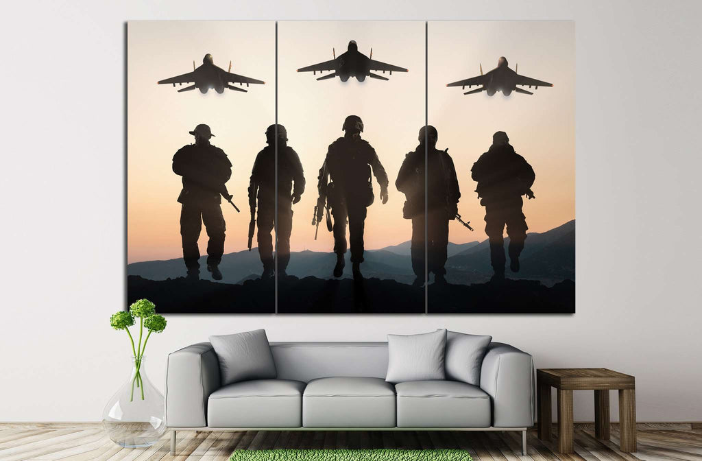Army Soldiers №9 Ready to Hang Canvas Print