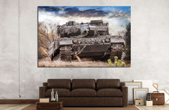 Army Tank №225 Ready to Hang Canvas Print