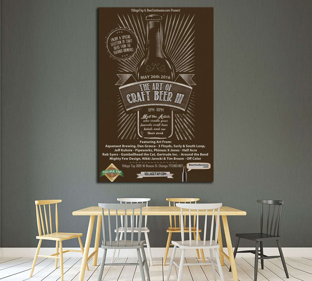 art of craft beer №3444 Ready to Hang Canvas Print