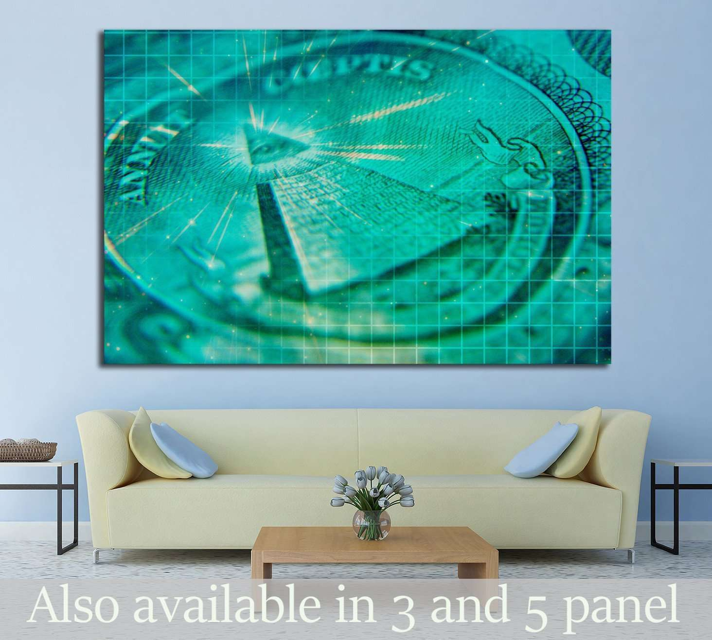 Artistic Grunge Money №1612 Ready to Hang Canvas Print