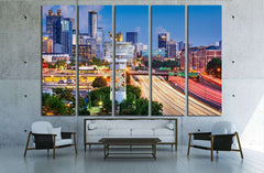 Atlanta, Georgia, USA №1638 Ready to Hang Canvas Print