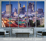 Atlanta, Georgia, USA twilight rush hour №1628 Ready to Hang Canvas Print