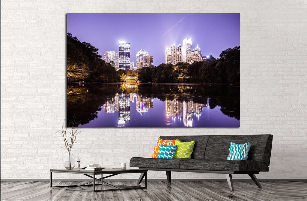 Atlanta №1743 Ready to Hang Canvas Print
