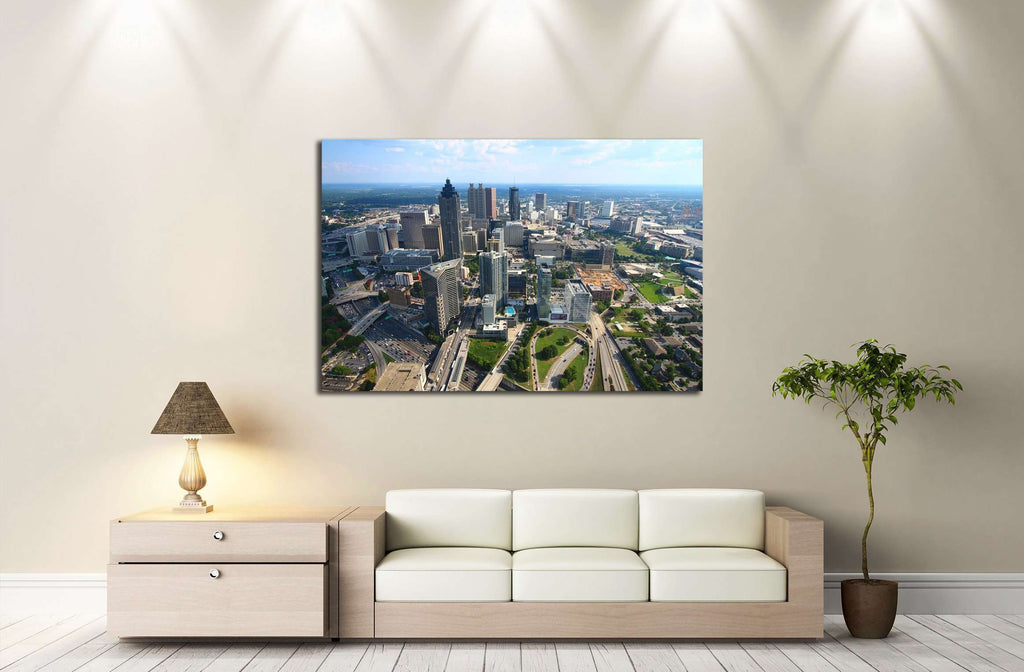 Atlanta South Curve №2218 Ready to Hang Canvas Print