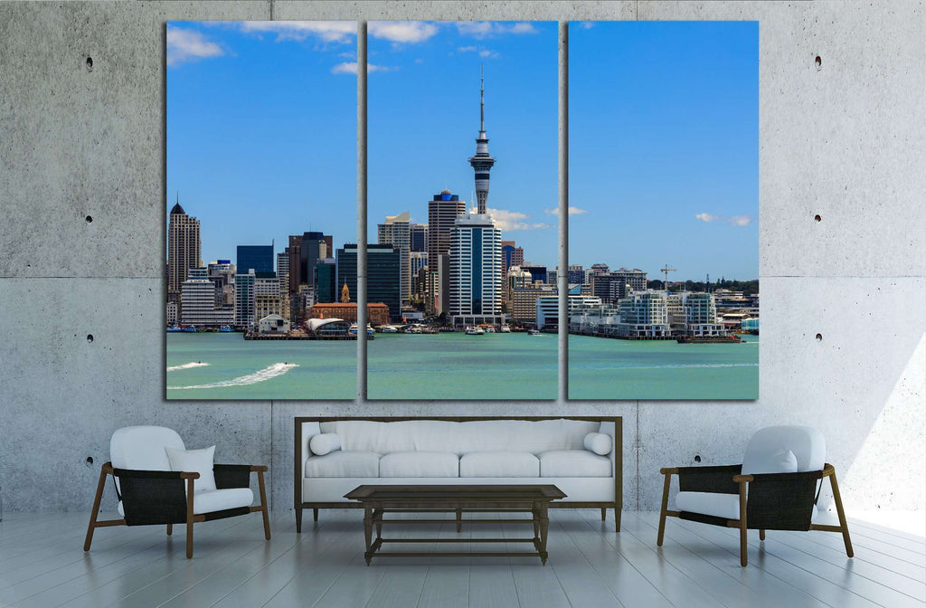 Auckland cityscape, North Island, New Zealand №2290 Ready to Hang Canvas Print