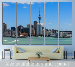 Auckland cityscape, North Island, New Zealand №2290 Framed Canvas Print