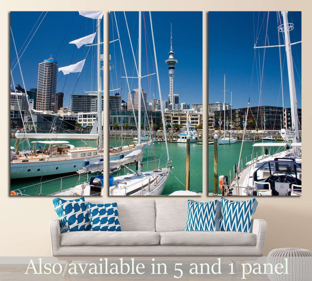 Auckland waterfront №1620 Ready to Hang Canvas Print