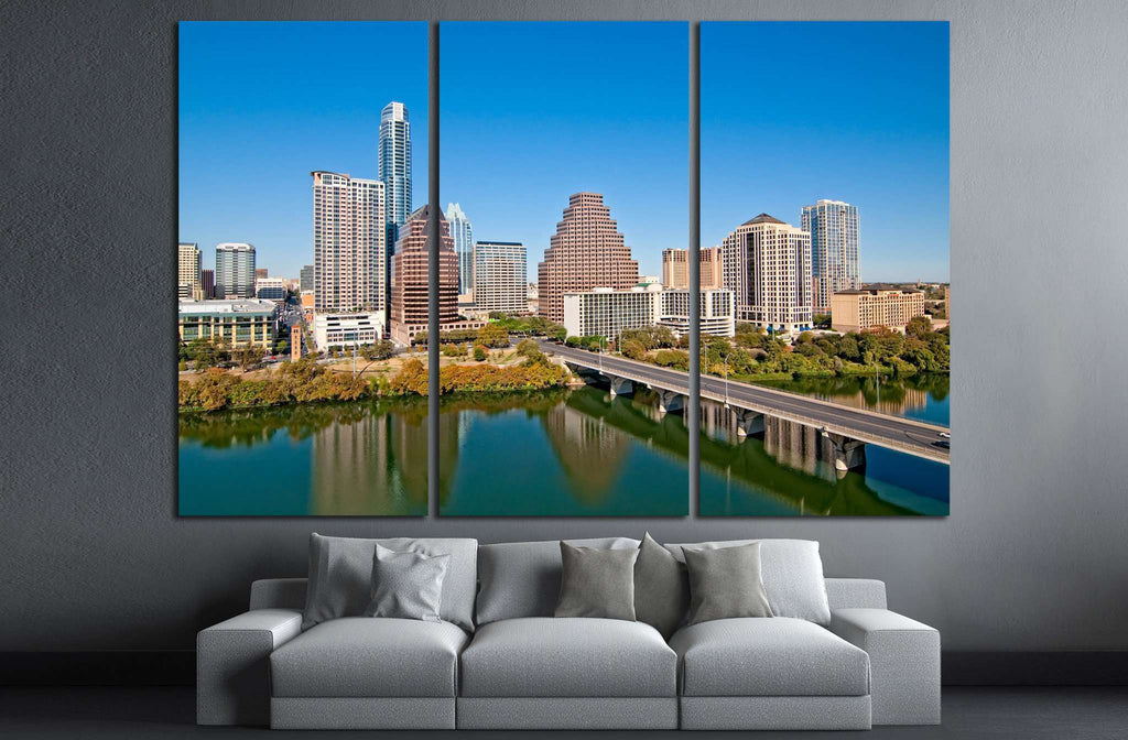 Austin, Texas Downtown Skyline №1036 Ready to Hang Canvas Print