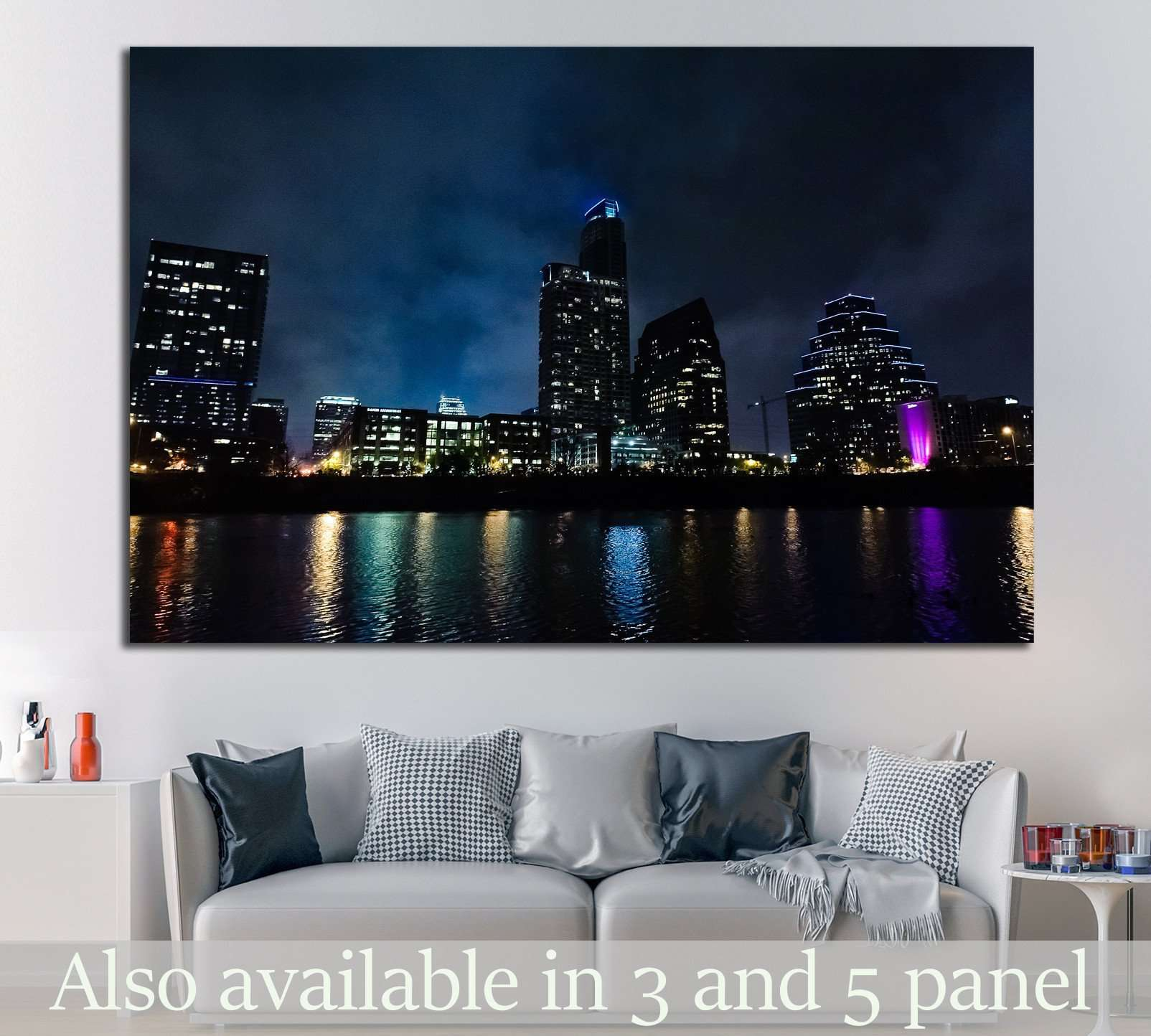 Austin, Texas №1038 Ready to Hang Canvas Print