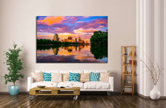 Austin, Texas Sunset №1096 Ready to Hang Canvas Print