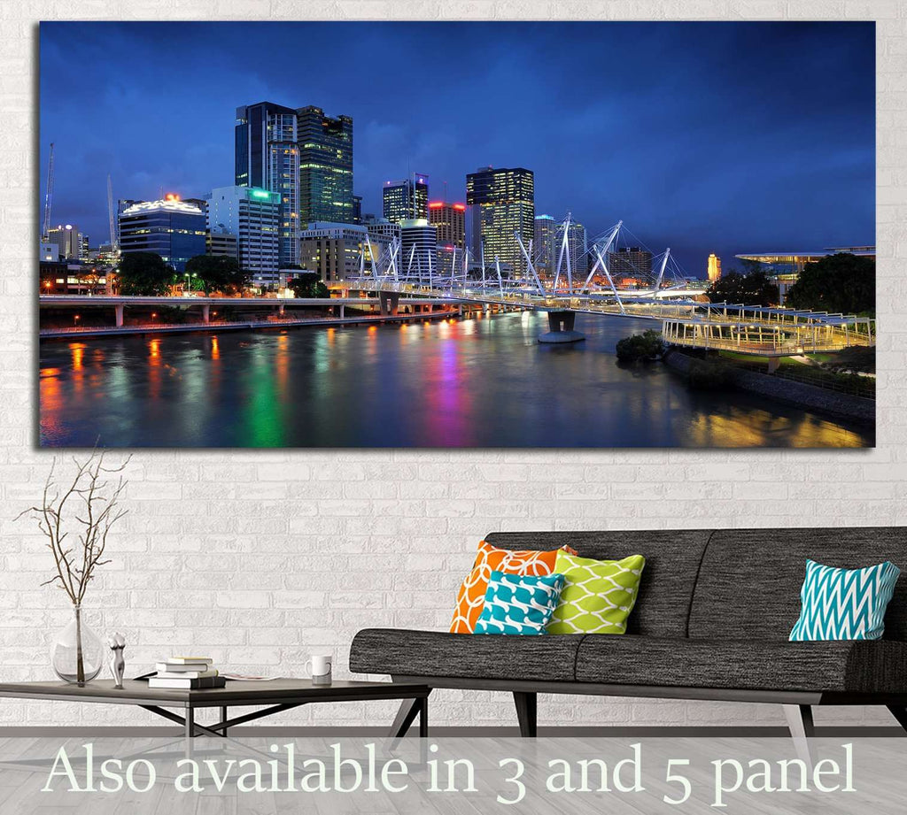 Australia Architectures, Kurilpa Bridge №1190 Ready to Hang Canvas Print