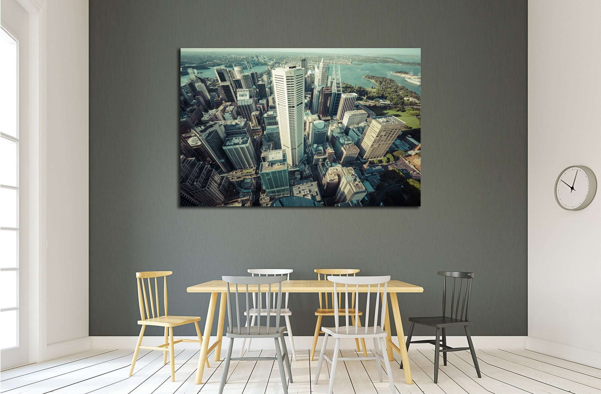 AUSTRALIA, Skyline of Sydney with city central business district №2185 Ready to Hang Canvas Print